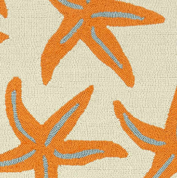 Halluin Indoor / Outdoor Bright Orange Area Rug