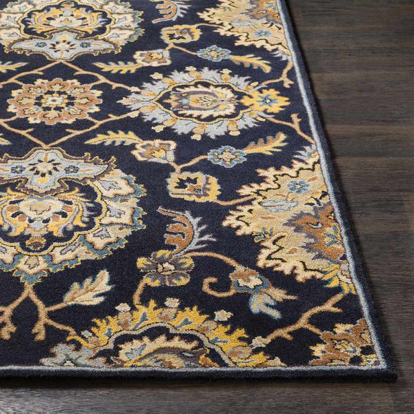 Harpenden Traditional Navy Area Rug