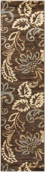Stettler Transitional Dark Brown Area Rug