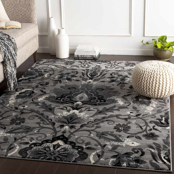 Stavely Transitional Medium Gray Area Rug