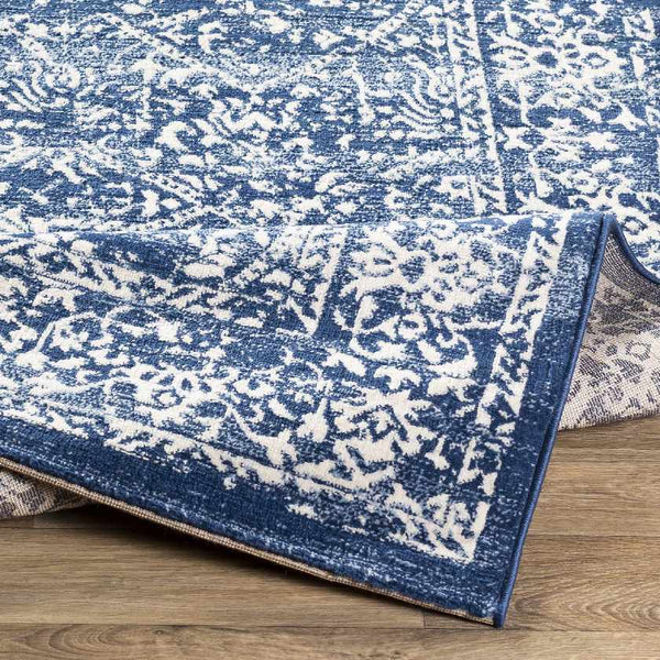 Beauvais Traditional Navy Area Rug