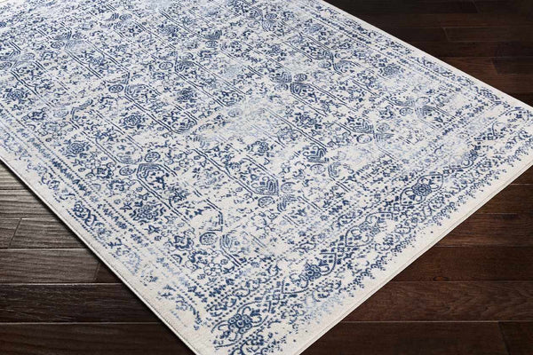Hyeres Traditional Dark Blue Area Rug