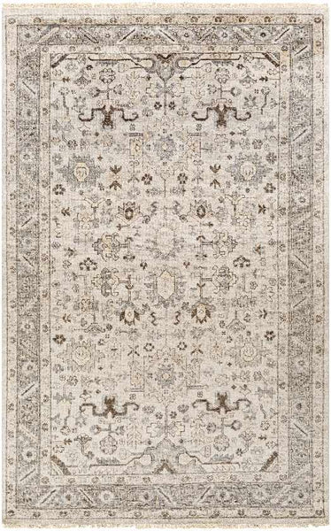 Piacenza Traditional Light Gray Area Rug