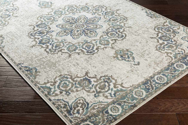 Rotherham Traditional Teal Area Rug