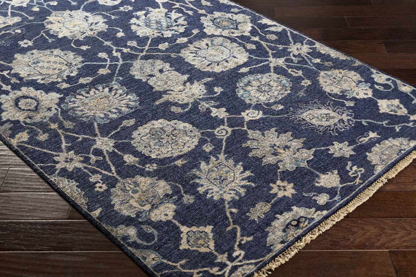 Suresnes Traditional Navy Area Rug