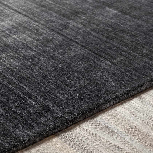 Skipton Solid and Border Charcoal Area Rug