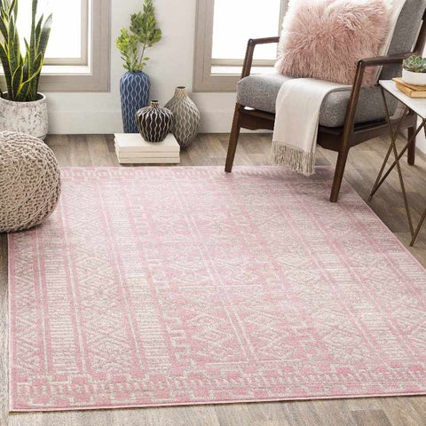 Zuideind Global Pale Pink Area Rug