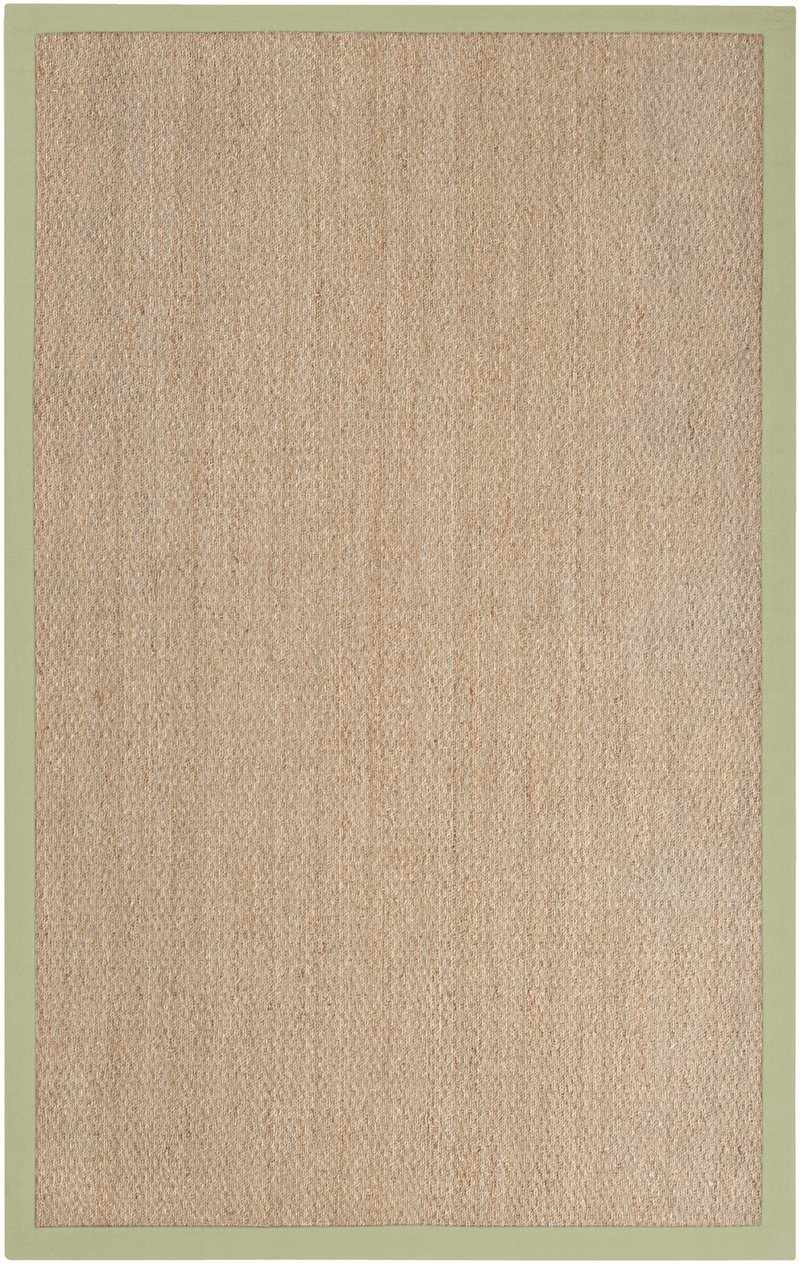 Crediton Natural Fiber Green Area Rug