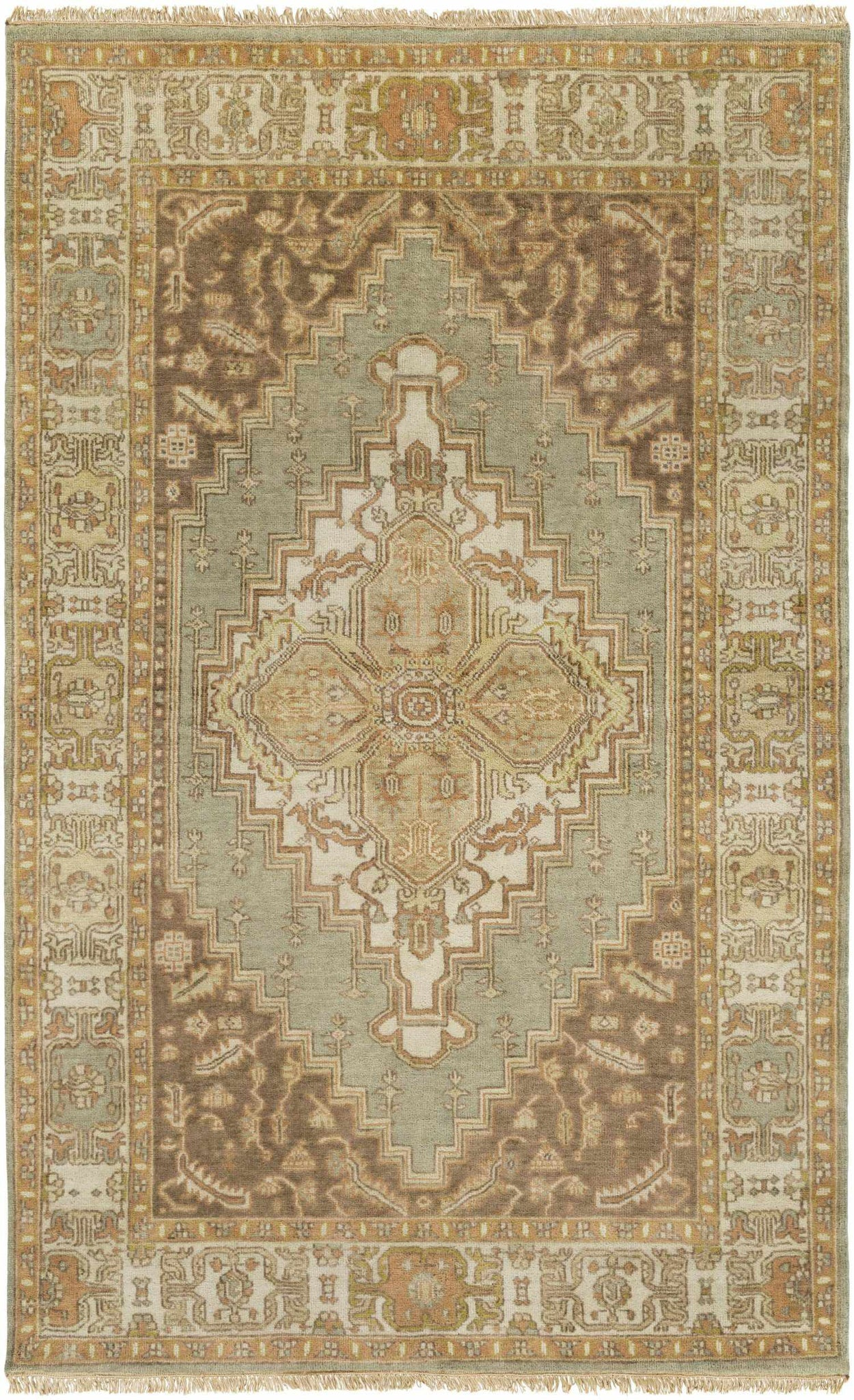 Antony Updated Traditional Peach Area Rug