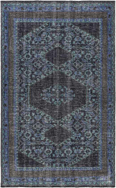 Scafati Updated Traditional Navy Area Rug