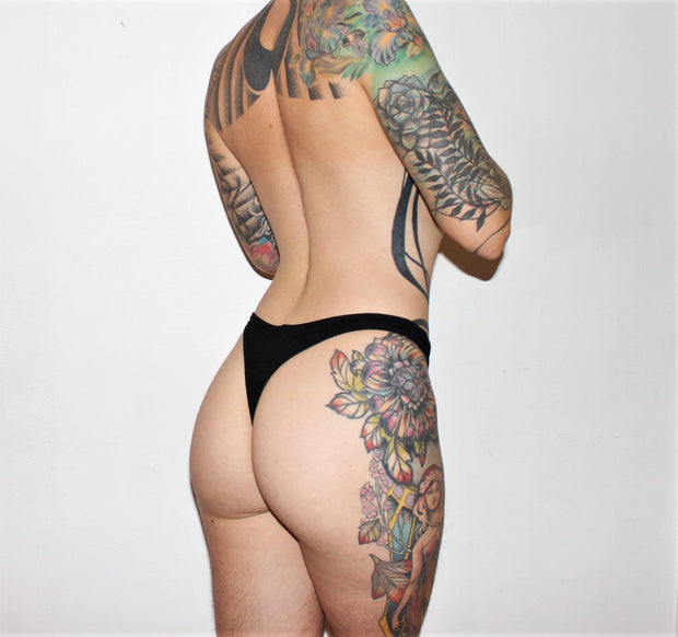 Bamboo High Waist Thong - origami-customs