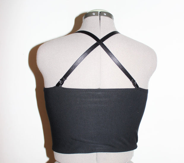 Mesh Panel Tank Half Binder - Origami Customs