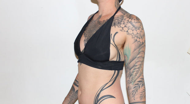 Longline Halter Swim Top - Origami Customs