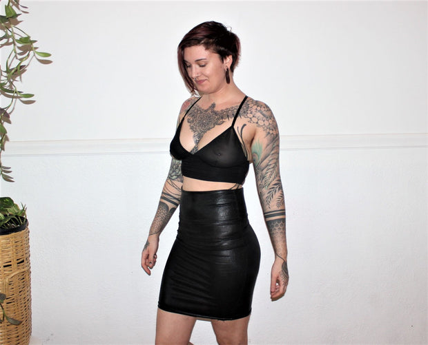 Metallic Pencil Skirt - Origami Customs