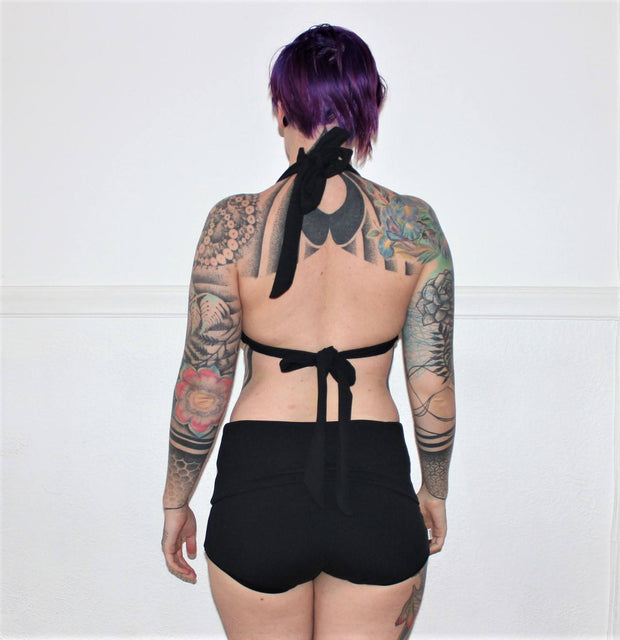 Thick Strap Reversible Swim Top - Origami Customs