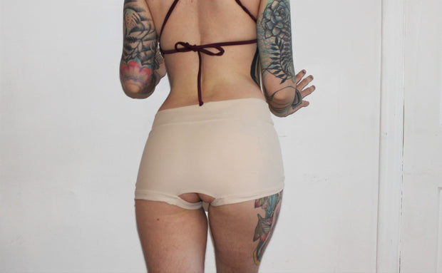 Crotchless Ouvert Strapon Bottoms - Origami Customs