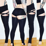 Strappy Bamboo Legwarmers - Origami Customs