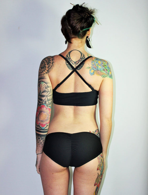 Reversible  Scrunched Butt boyshort Bikini Swimsuit Bottom - Origami Customs