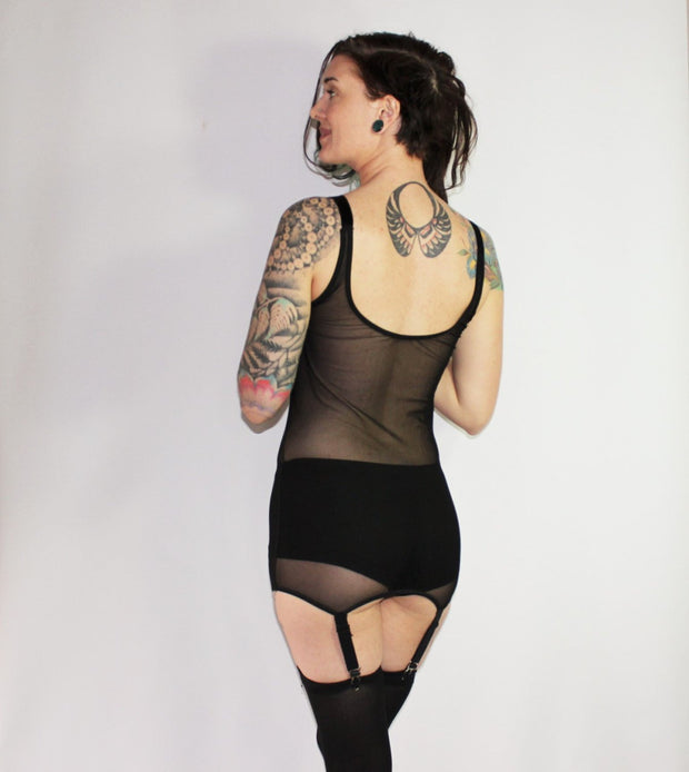 3-in-1  Mesh Garter Dress - Origami Customs