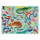 ANIMAL KINGDOM 100 PIECES DOUBLE-SIZED PUZZLE
