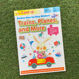 KUMON: STEP-BY-STEP STICKERS - TRAINS, PLANES AND MORE