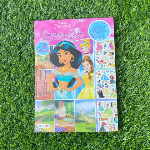 CREATE-A-SCENE STICKER ACTIVITY PAD TO COLOUR: PRINCESS