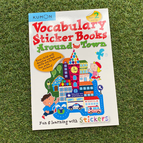 KUMON: VOCABULARY STICKER BOOK - AROUND TOWN