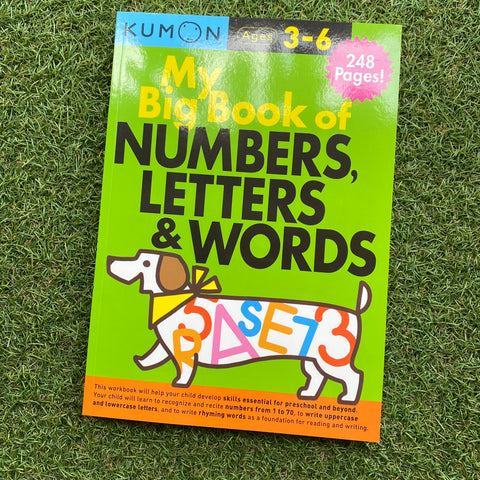 KUMON: MY BIG BOOK OF NUMBERS, LETTERS AND WORDS