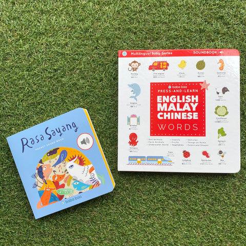 BUNDLE DEAL: PRESS-AND-LEARN ENGLISH MALAY CHINESE WORDS & RASA SAYANG POCKET SOUND BOOK