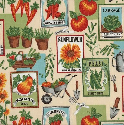Vintage Seed Packet Fabric