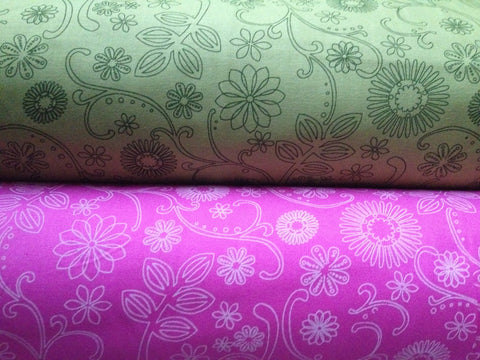 Extra Wide Floral Fabric