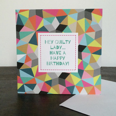 'Quilty Lady' Birthday Card