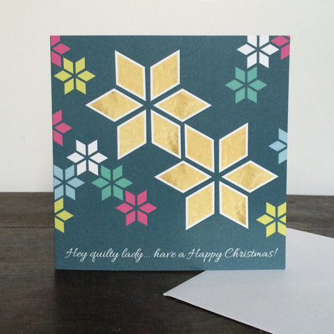 'Quilty lady' Christmas Card