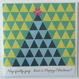 'Quilty guy' Christmas Card