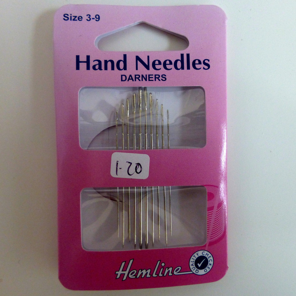 Hand Sewing Needles - Darners Assorted