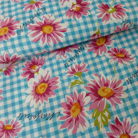 Gingham Flowers - Blue