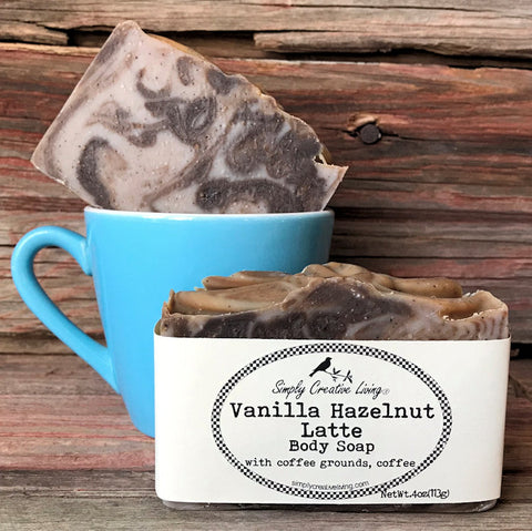 Vanilla Hazelnut Latte Body Soap Bar