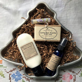 Christmas Gift Set: Ready Made Gift Baskets with Vintage Containers