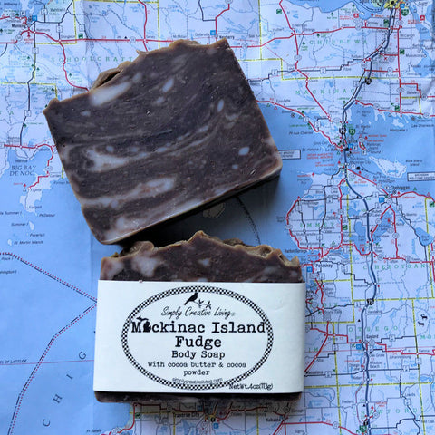 Michigan Mackinac Island Fudge Body Soap Bar