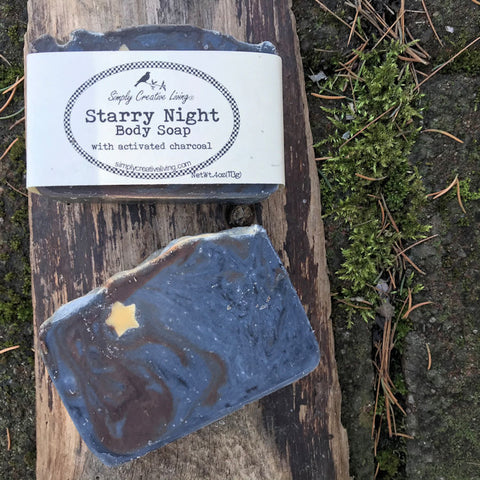 Starry Night Eucalyptus Blend Essential Oil Soap Bar