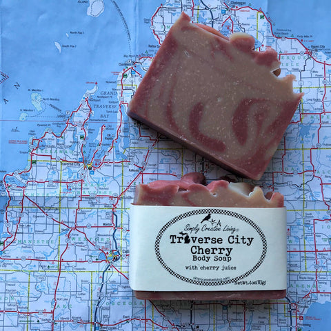 Michigan Traverse City Cherry Body Soap Bar