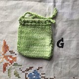 Hand Knitted Soap Sack for Whole Bar, Soap Scraps