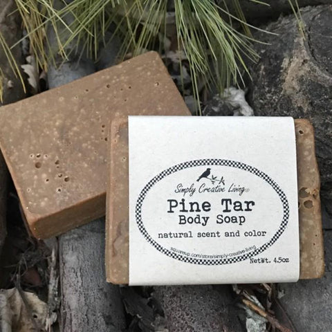 Pine Tar Body and Facial Soap Bar - Palm Free
