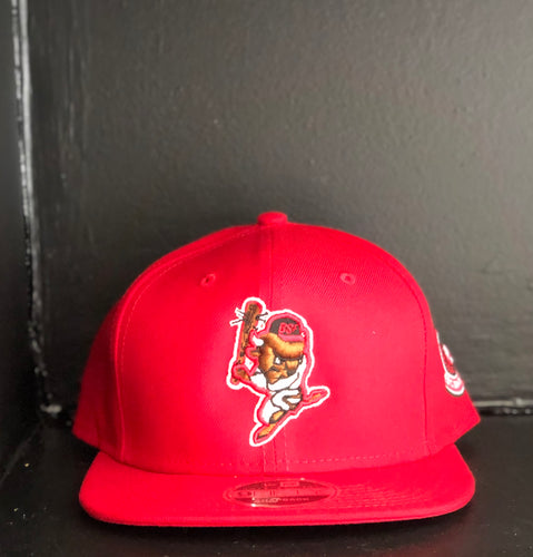 BSF BISON SNAPBACK RED
