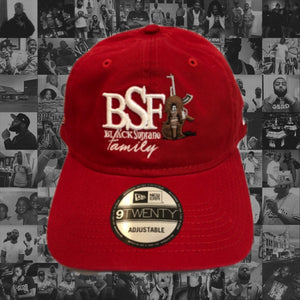 RED BSF CLASSIC LOGO DAD HAT