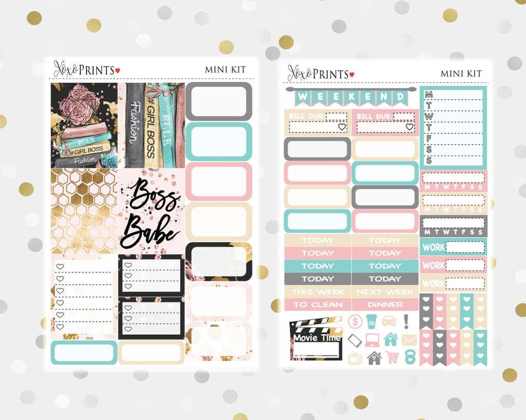Girls Boss Mini Weekly Kit for your Personal Planner