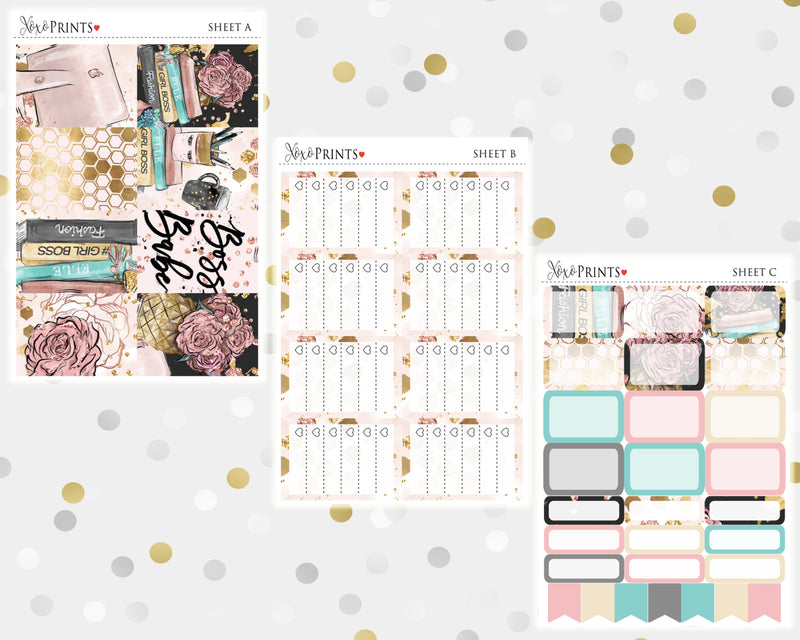 Girl Boss Weekly Kit for the Classic Happy Planner