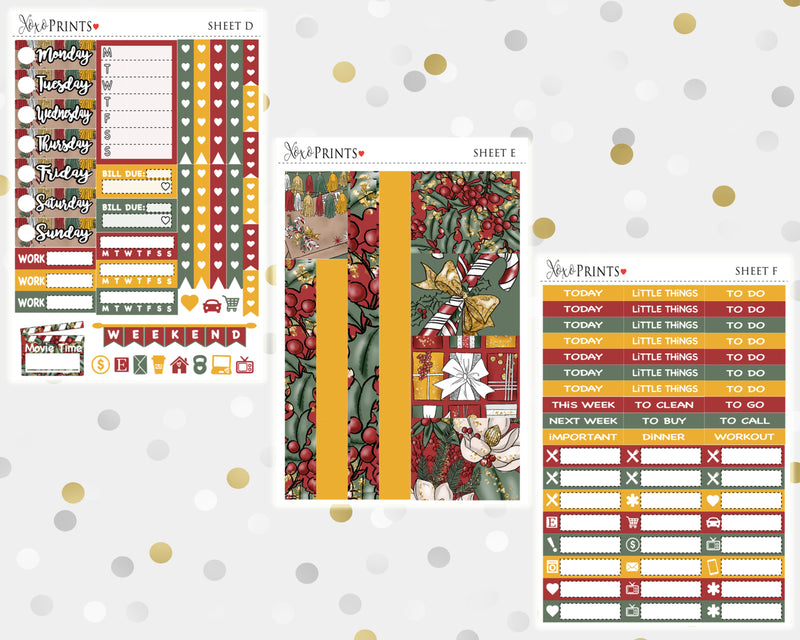 Merry Christmas Weekly Kit for the Classic Happy Planner