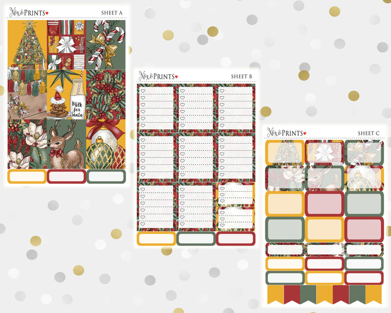 Merry Christmas Weekly Kit for the Vertical Erin Condren Planner