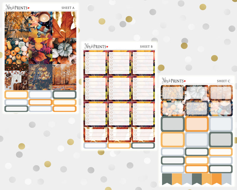 Hello Fall Weekly Kit for the Horizontal Erin Condren Planner